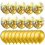 20pcs/set Gold Latex Balloon Wedding Baloon Confetti Balloons Birthday Party Decoration Ballon
