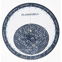 Melquiades–Planisphère avec calendrier visite–Carte stellaire–Anneaux de haut épaisseur et finition brillant satiné que des vraie résistance à l'usure et projections