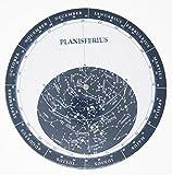 Melquiades - Planisferio con calendario rotatorio - Mapa estelar - Cartón de alto grosor y acabado...