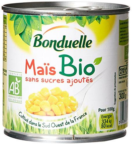 Bonduelle Maïs Bio sans Sucres Ajoutés 300 g Égoutté 285 g - Lot de 6