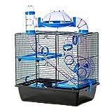 pour Animal Domestique Ting Jackson Cage à Hamster avec Tubes de Roue Gerbille Hamster Souris