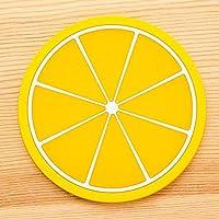 VVDF - Posavasos de Silicona en Forma de Fruta, 6 Unidades, para la Venta (Naranja, limón, Verde, Naranja, sandía, dragón, Caramelo, Fruta