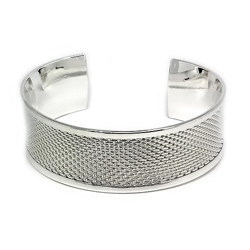 Stylish and Classy Silver Hammered Cuff Bangle