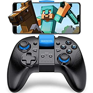 BEBONCOOL Bluetooth Game Controller Gamepad mit Halterung für Android Handy/Tablet/TV Box/Gear VR/Emulator