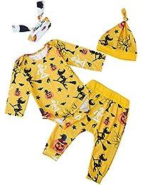 RAISEVERN niñas Ropa Conjuntos, Ropa de bebé recién Nacido niña algodón Bowknot Casual Mono Mameluco Jumpsuit Traje Conjunto