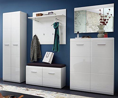 Germania 8791-84 5-tlg. Garderoben-Set GW-Adana in Weiß, 285 x 197 x 40 cm (BxHxT)