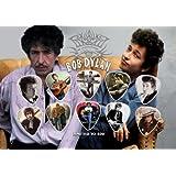 Bob Dylan Signed Autograph Púa Para Guitarra Display (Limited to 500 Prints)