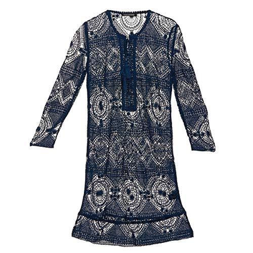 Antik Batik LEANE Kleider Damen Marine - DE 40 / L (EU 42 / L) - Kurze Kleider
