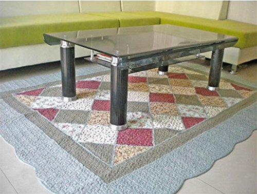 GMM® Teppich Chenille-Teppich Teppich schont Hand gewebt Maschine waschbar Baumwolle rutschfest Teppich Lounge Kaffee Teppich Teppich Boden-Teppich Chenille, Baumwolle, 200cm * 230cm, blue