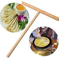 Sukisuki Holzstreuer in T-Form für Krepp, Pfannkuchen, Teig, Pancake, Crêpe-Spreader für Küche DIY Spreader Backwerkzeug für Tortilla, Eier, BBQ multi
