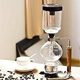 TAMUME 5 Tasse Kaffee Syphon Maschine Vakuum Kaffeebereiter Kaffeemaschine für Kaffee und Tee mit Extended Griff