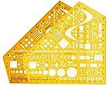 2 x Standardgraph 8191 Schablone Stano-Winkel, 155 x 155 x 1,3 mm