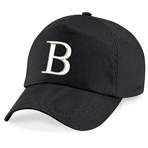 4sold Fille Enfants Chapeau Bonnet Unisexe A-Z Alphabet New Casquette de Baseball Cap noir Garçon B