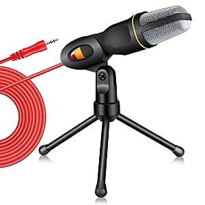 TonorProfessional Condenser Sound Podcast Studio Microphone For PC Laptop Computer