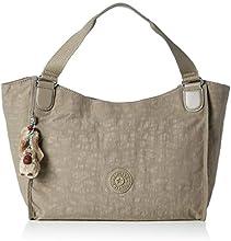 Kipling Sarande N, Bolsa de Medio Lado para Mujer, Gris (828 Warm Grey), 28x45x16.5 cm (B x H x T)