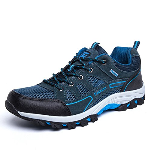 Men's Airmesh Lace Up Lover Outdoor Hiking Shoes blue