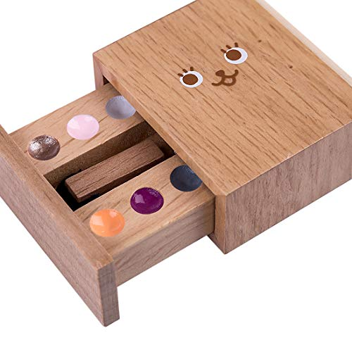 ZUJI 12Pcs Wooden Makeup Set for Kids Girls Pretend Play Beauty Salon Set with Cosmetic Bag