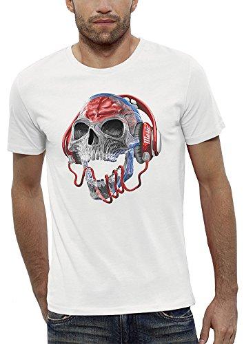 Camiseta cráneo blanca
