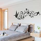 Vogel Silhouette der modernen Schlafzimmer Eingang TV Wohnzimmer dekorative Wandaufkleber PVC können 53.5X80CM entfernt werden