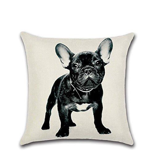 Excelsio Cute Bulldog Funda de Cojín para Sofá Cama Salón Dormitorio Hogar...