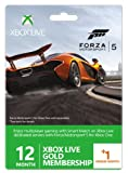 Xbox Live Gold 12-Month Membership Card with 1 Bonus Month - Forza 5 Branded (Xbox One/360)
