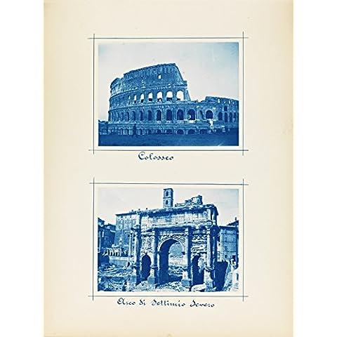 POSTER Colosseo Arco di Settimio Severo Roma Settembre 1899 Norway Wall Art Print A3 (Archi Wall Art)