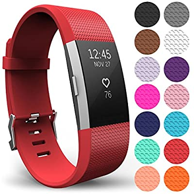 Yousave Accessories FitBit Charge 2 Strap Band, Replacement Silicone Sport Wristband for the FitBit Charge 2 - Available in 15 Colours : everything 5 pounds (or less!)