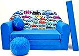 C21 Kindersofa Ausklappbar Schlafsofa Couch Sofa Minicouch 3 in 1 Baby Set + Kindersessel und Sitzkissen + Matratze
