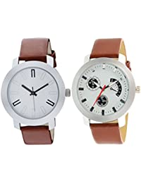 Scarter Combo Of 2 Analog Watch For Boys And Mens- S-204-213