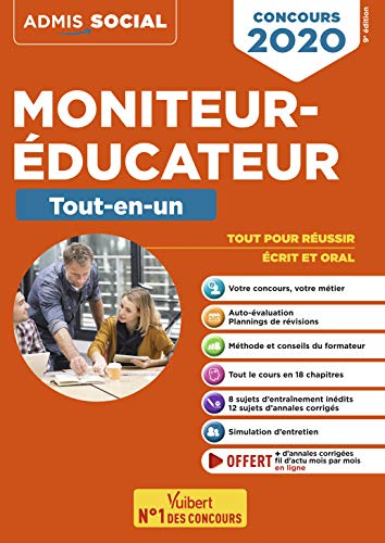 Concours Moniteur-éducateur - Tout-en-un - Concours 2020 par Billet Michel,Furstos Eric