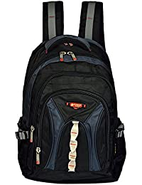 Power In Eavas 30 Liters Nylon Black And Dark Blue 15.6 And 17inch Premium Quality Water Proof Laptop Backpack...