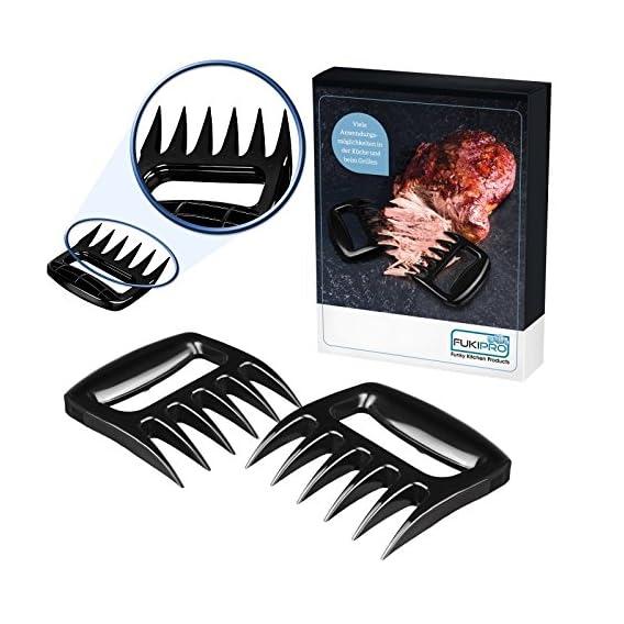 1 Paar Meat Claws Fleischgabeln Im Brenkrallenlook Solide Version Fr Leichtere Reinigung