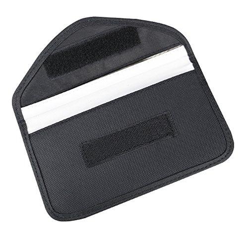 HMF 3405-02 RFID Schutztasche Smartphone Keyless-Go Autoschlüssel, Abschirmung, 10,5 x 19 x 1,5 cm, schwarz