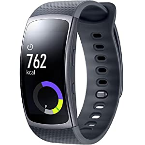Samsung Gear Fit Smart Wrist Watch with Heart Rate Monitor and notifications II
