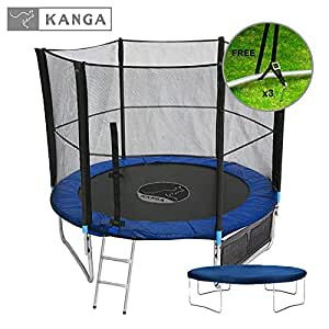 Kanga 6ft Premium Trampoline with Safety Enclosure, Net, Ladder, Anchor Kit, Shoe Bag & Winter Cover (6ft) …