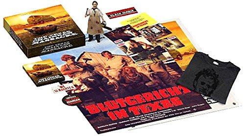 Preisvergleich Produktbild The Texas Chainsaw Massacre - 40th Anniversary Limited Collector's Box (Mastered in 4K Blu-ray + Bonus-Blu-ray im Turbine-Steel,  Leatherface-Figur,  T-Shirt in XL,  2 Plakate,  6 Postkarten,  3 Aufkleber)