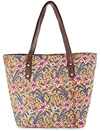 Vivinkaa Ethnic Printed Multicolor Floral PrintTote Bag