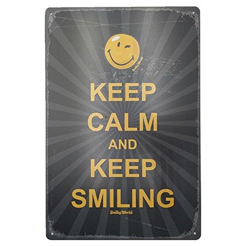 (mikolot Retro Smile Face Eisen Schild Metall Poster Teller Schild Home Garage Shop Decor Keep Calm)