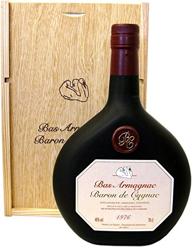 Rarität: Armagnac Baron de Cygnac 0,7l Jahrgang 1976 incl. Holzkiste
