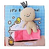 Libro di stoffa Puzzle per bambini di prima educazione Illumina la carta igienica strappata (colorata)