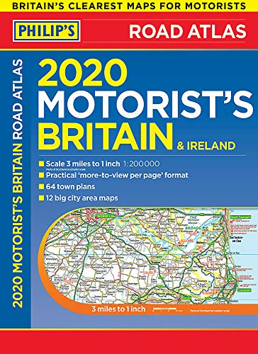 Philip's Motorist's Road Atlas Britain and Ireland: (Large-format paperback) (Philips Road Atlas)