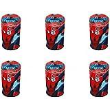 Pack de 6Marvel Spiderman banco de monedas con cierre y fiesta