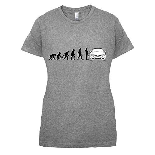 Evolution of Man - Civic Fahrer - Damen T-Shirt - 14 Farben Sportlich Grau