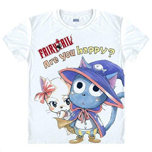 Juvia Tail Fairy Kostüm - Bromeo Fairy Tail Anime Kostüm Short Sleeves Kurze Ärmel Tee T-Shirt