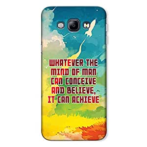 CrazyInk Premium 3D Back Cover for Samsung A8 2015 - Mind of man