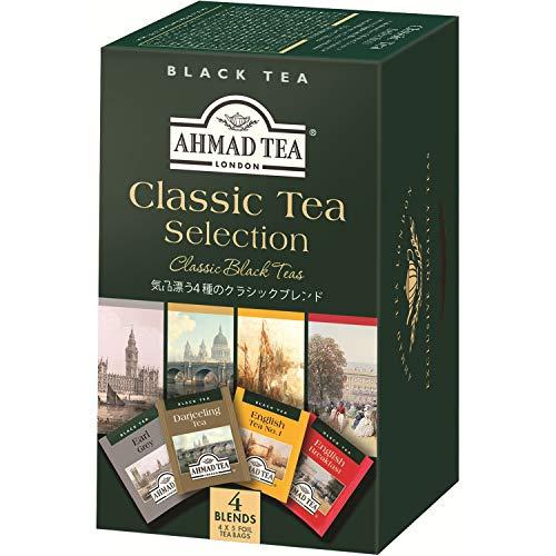 Ahmad Tea - Classic Tea Selection | 4 verschiedene Schwarztee-Sorten | 20 Teebeutel á 2 g | Teebeutel mit Band (Ahmad Tea English 1)