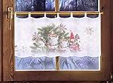 Scheibengardine WICHTEL 45 x 120cm Caféhausgardine/Weihnachtsgardine / Weihnachtsdeko/Fensterdekoration