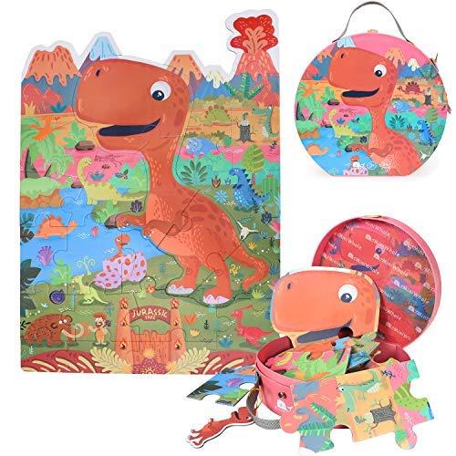 osaurier Entdeckung Bildung und Lernen Bodenpuzzle für Kinder Kinder Kleinkinder Mädchen Jungen Puzzles 3-10 Jahre altes Spielzeug ()