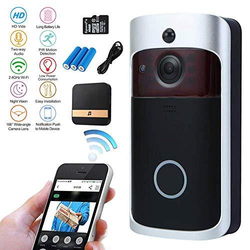 Nestling® Sonnette vidéo,720P HD Sonnette WiFi sans Fil...