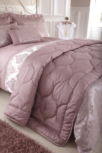 Charlotte Thomas Anastasia Faux Silk Bed Throw Dark Pink 220cm x 240cm